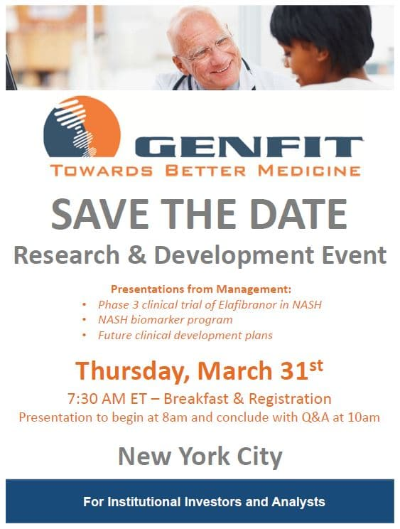 GENFIT R&D day 2016